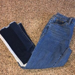 Size 2 patched high rise jean from target